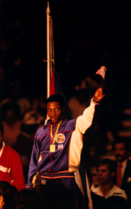 Pernell Whitaker, Boxer, Pan-American Games, Gold Medalist, Caracas, Venezuela, from the series Shooting for the Gold