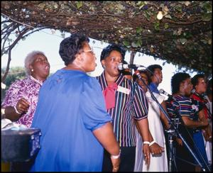 [Women of the Duckens Family Performing] 14th Annual Texas Folklife Festival
