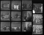 Set of negatives by Clinton Wright including KTOU and Powerhouse Church program, Matt Kelly's breakfast program, and Bob Mabry's baby christening, 1967
