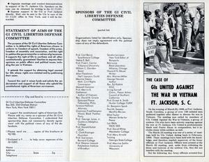 Case of GIs united against the war in Vietnam, Ft. Jackson, S.C