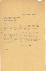 Letter from Jessie Redmon Fauset to Robert L. Vann