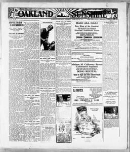 Oakland Sunshine (Oakland, Calif.), Vol. 26, No. 40, Ed. 1 Saturday, February 25, 1922 Oakland Sunshine