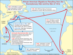 African-American migrations resulting from the Revolutianary War and the War of 1812