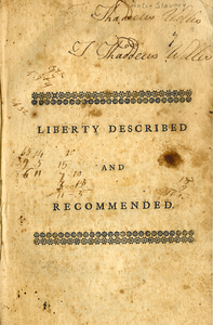 Liberty described and recommended: in a sermon, preached to the corporation of freemen in Farmington, at their meeting on Tuesday, September 20, 1774
