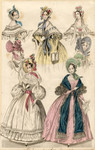 Fashions and bonnets, 1836