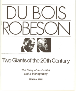 Du Bois Robeson: two giants of the 20th century