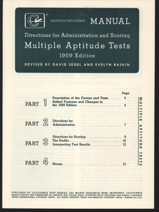 California tests, miscellaneous