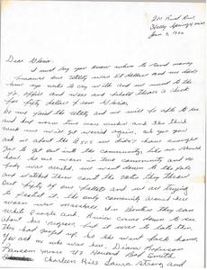 Letter from Rita Walker to Gloria Xifaras Clark