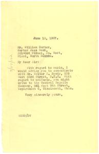 Letter from W. E. B. Du Bois to William Carter