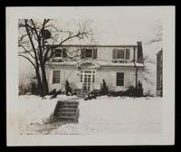 Winter scene, the home of the John E. Nails Gr. Barrington, Mass.