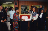 Terry McMillan presented with a cake