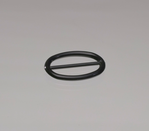 Black plastic buckle from Mae's Millinery Shop