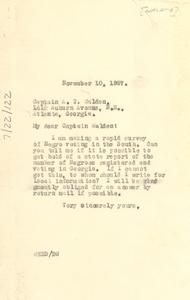 Letter from W. E. B. Du Bois to Captain A. T. Walden