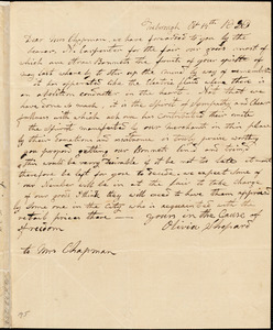 Letter from Olivia Shepard, Foxborough, [Massachusetts], to Maria Weston Chapman, 1839 [October] 14