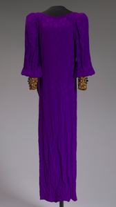 Purple dress designed by Oscar de la Renta and worn by Whitney Houston