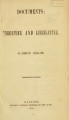 Documents: executive and legislative [1858; 1859] Documents: executive and legislative