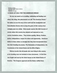A Wake-Up Call For The American Dream Texas Senate Papers