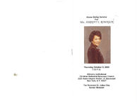 Home Going Service For Mrs. Harriet E. Robinson, Thursday, October 5, 2006, 7:00 p.m., Williams Institutional Christian Methodist Episcopal Church, 2225 Adam Clayton Powell, Jr. Boulevard, New York, N.Y. 10027, The Reverend Dr. Julius Clay Senior Minister