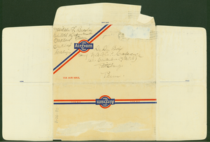 Aerogramme from Delilah L. Beasley to W. E. B. Du Bois