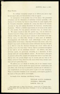 Letter from William Lloyd Garrison, Boston, [Mass.], Sept. 1, 1861