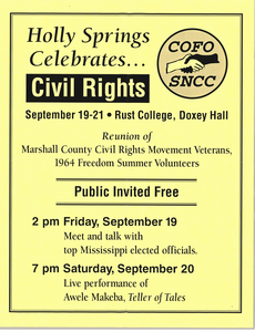 Holly Springs Celebrates\.. Civil Rights