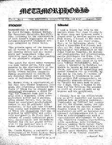 Metamorphosis Vol. 1, No. 4 (August 1982)