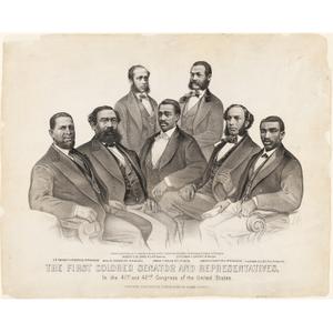 First Colored Senator and Representatives