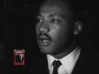 WSB-TV newsfilm clip of Dr. Martin Luther King, Jr. presenting four demands of the civil rights movement in Birmingham, Alabama, 1963 May 5