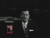 WSB-TV newsfilm clip of Herman Talmadge, United States senator from Georgia, speaking about the rights of citizens on the Senate floor in Washington, D.C., 1962 August 3