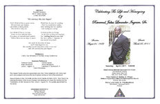 Celebrating the life and homegoing of Reverend Julius Levander Ingram, Sr., Saturday, April 2, 2011, 9:00 a.m., Shiloh African Methodist Episcopal Zion Church, 779 Henderson Avenue, Staten Island, New York, Rev. Eli D. Smith, pastor, Pastor Denison D. Harrield, Jr., officiant, Wallace Chapel African Methodist Zion Church, Summit, New Jersey, Bishop Louis Hunter, Sr., presiding bishop, Mid-Atlantic 1 Episcopal District, eulogist