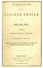 Statistics of the colored people of Philadelphia