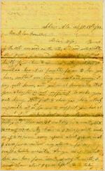Letter, Alex W. Feemster to Loulie Feemster 9/18/1863