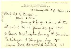 Letter from A. L. Mitchell to W. E. B. Du Bois