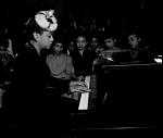 Hazel Scott at Piano [black-and-white film negative]