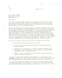 Letter from Dr. Alphaeus Hunton to James T. Wright