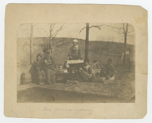 Albumen print of enslaved women and their children near Alexandria, Virginia
