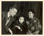 Family portrait of John Pratt, Marie-Christine Dunham Pratt, and Katherine Dunham