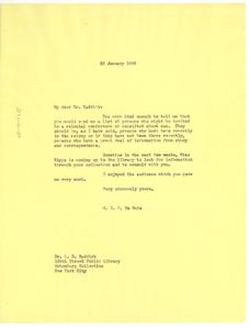Letter from W. E. B. Du Bois to L. D. Reddick