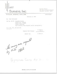 Hart Surveys, Inc. Invoice