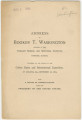 """""""Address of Booker T. Washington, Principal of the Tuskegee Normal and Industrial Institute, Tuskegee, Alabama, Delivered at the Opening of the Cotton States and International Exposition, at Atlanta, Ga."""""""
