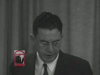 Series of WSB-TV newsfilm clips of statements by Georgia governor Ernest Vandiver, Athens mayor Ralph M. Snow, Georgia state treasurer George B. Hamilton, lieutenant governor Garland T. Byrd, and Mrs. Alice Stancil regarding integration of the University of Georgia, Georgia, 1961 January
