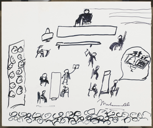 Sketch by Muhammad Ali of his 1967 trial