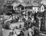 Children on a Mardi Gras float in an African American neighborhood in Mobile, Alabama.