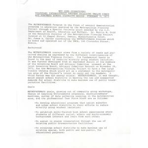 MPP goes operational: Voluntary interdistrict program including twelve urban and suburban school districts begins February 3, 1975