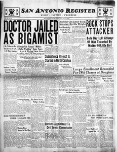 San Antonio Register (San Antonio, Tex.), Vol. 3, No. 41, Ed. 1 Friday, January 12, 1934 San Antonio Register