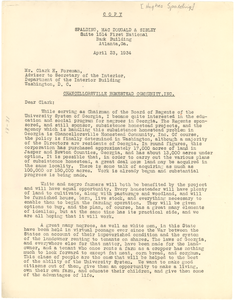 Letter from Hughes Spalding to Clark H. Foreman