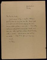 Letter : Jean Toomer to Carl van Vechten