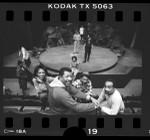 Barbara Alston, Hal Williams, Erik Kilpatrick, and David Downing at Black Ensemble rehearsal at Los Angeles Theatre Center, Calif., 1986