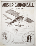 """Airship """"Cannonball"""" is leaving / by Jess R. Batt"""