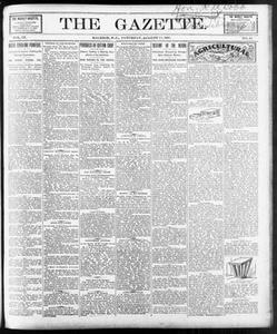 The Gazette. (Raleigh, N.C.), Vol. 9, No. 28, Ed. 1 Saturday, August 28, 1897 The Gazette The Weekly Gazette